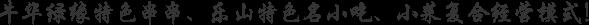 牛华绿缘特色串串、乐山特色名小吃、小菜复合经营模式!